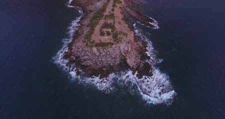 sycylia : The island of Sicily in Italy from above, the Mediterranean Sea near Syracuse Wideo