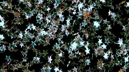 контрасты : Out of the darkness there is a multitude of small bright Silver stars. They slowly freeze in place and disappear in the darkness. Beautiful video for Christmas, New Year, Saint Valentine or any other holiday. Filmed at a speed of 240fps