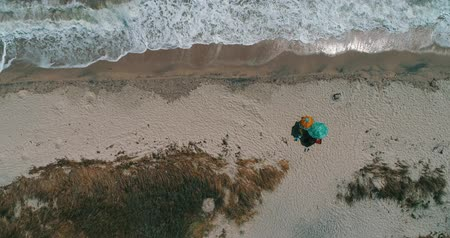 Top View of a Beach Stock Footage