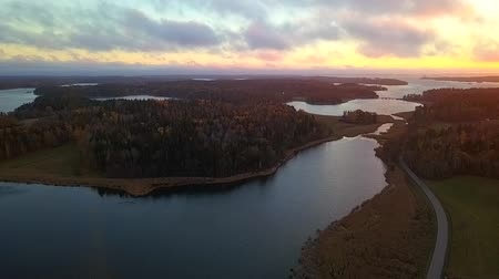 outlook : Beautiful view of the classic Swedish landscape from above.
