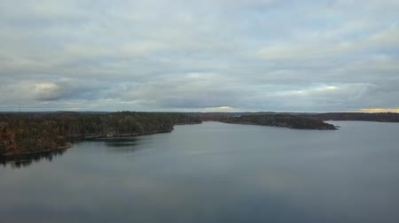 švédský : Beautiful view of the classic Swedish landscape from above.