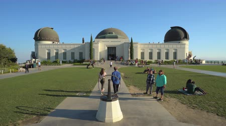 observatory : Griffith observatory building. Los Angeles, Griffith Park - August 2017: Los Angeles California, US