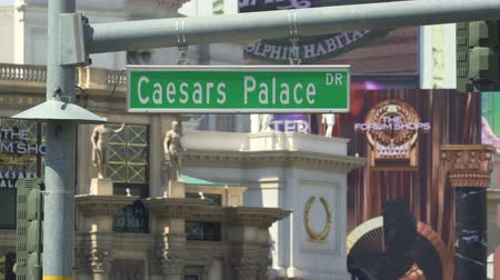 bellagio : Cesar Palace dr street sign - August 2017: Las Vegas, Nevada, US