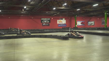 pozisyon : Go cart starting. Go cart racing track - August 2017: Allentown, Pennsylvania, US
