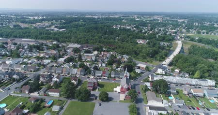 пригородный : Aerial view of American suburb. Suburban homes in Pennsylvania Catasauqua, PA, USA