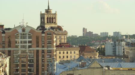 kiev : Downtown Kiev cityscape. Rooftops and buildings in city center - June 2017: Kiev, Ukraine