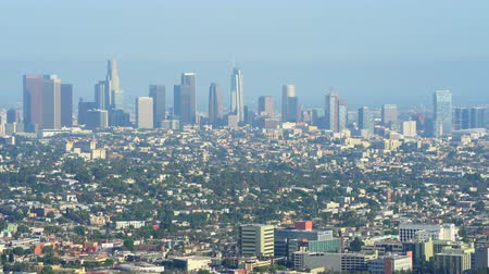 los angeles skyline : Los Angeles cityscape, skyline. View from Griffith park - August 2017: Los Angeles California, US