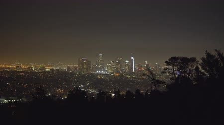 los angeles skyline : Los Angeles cityscape, skyline at night. View from Griffith park Los Angeles California, US