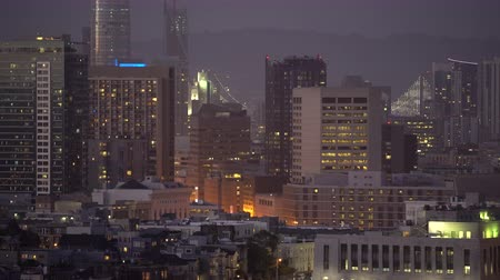 пригородный : Cityscape of downtown San Francisco at night San Francisco, California, US