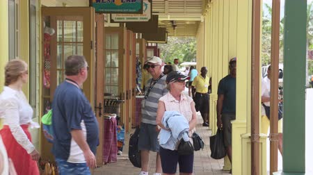 jamaica : Jamaica, caribbean city center, shopping street - Falmouth, Jamaica Stock Footage