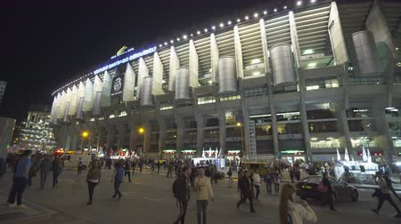 spanyolország : Real Madrid fans in the Santiago Bernabeu stadium, before soccer match - April 2018: Madrid, Spain
