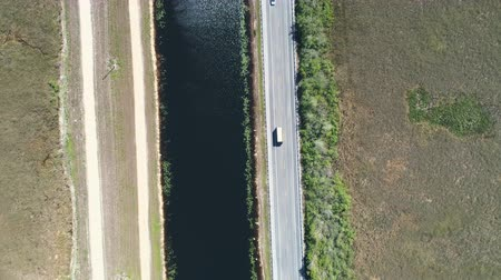regional : Aerial shot of a country road. Route US-41 in Everglades Swamps - Florida