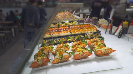 нигири : Seafood and sushi in the counter - Sydney fish market Sydney, Australia