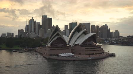 alkony : Aerial view of Sydney Opera House at sunset