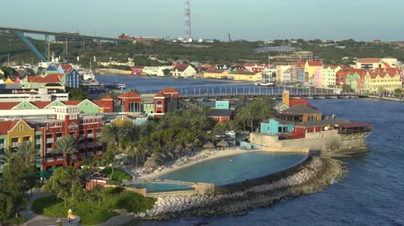 curacao : Caribbean overlooking cityscape - Willemstad, Curacao