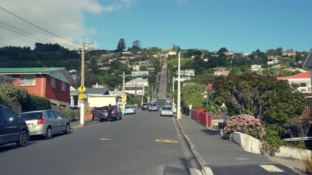 íngreme : Baldwin Street, the steepest street in the world - March 2017: Dunedin, New Zealand