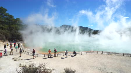 hotpot : Geothermal steam, boiling water pool - March 2017: Rotorua, Waiotapu, New Zealand