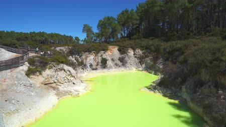 hotpot : Colored geothermal lake - March 2017: Rotorua, Waiotapu, New Zealand