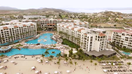cabo san jose : Aerial shot of tropical oceanfront resort, hotel - San Jose del Cabo, Mexico