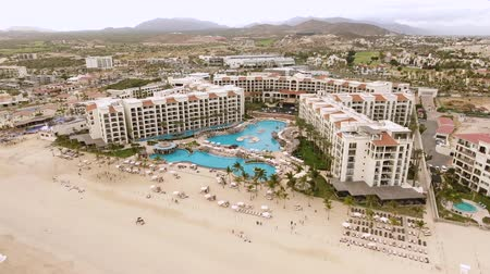 cabo san jose : Aerial shot of tropical beachfront resort, hotel - San Jose del Cabo, Mexico