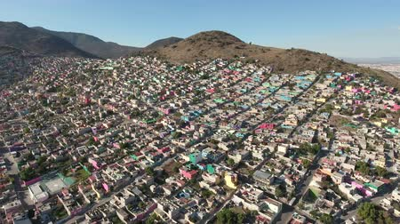 slum house : Aerial view of Mexico City, overpopulation - Largest crowded city, Mexico