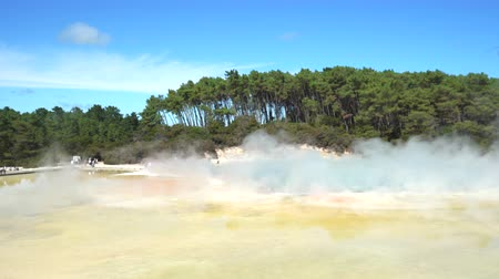 hotpot : Geothermal steam, boiled water pool - New Zealand, Rotorua, Waiotapu