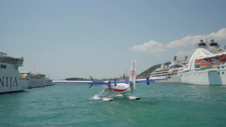 engineered : Seaplane cruising at sea - Adriatic sea