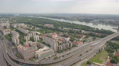 маргарита : Aerial view of Budapest, Hungary - Arpad bridge and Danube river