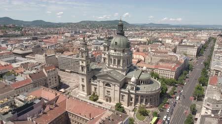 st stephen : Aerial shot of downtown Budapest - St. Stephens Basilica, Hungary