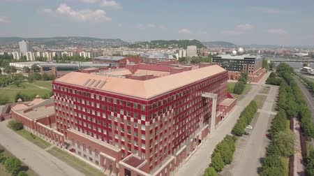 pólos : Aerial view of Budapest - ELTE University, Hungary Stock Footage