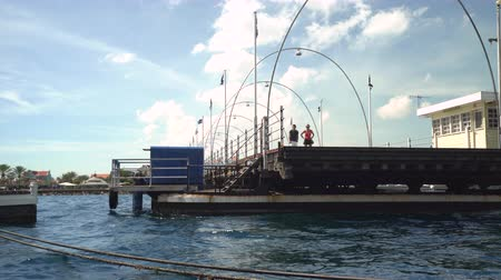 curacao : Floating bridge closure - Willemstad downtown, Curacao