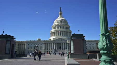senate square : Capitol building, slider shot - Washington DC Stock Footage