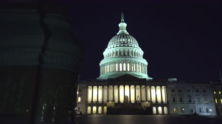 senate square : Capitol building at night, slider shot - Washington DC