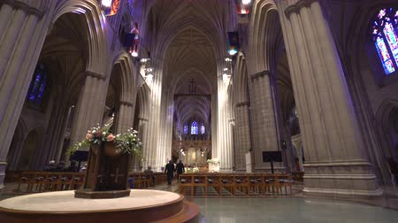 us bank tower : National Cathedral interior, episcopal church - Washington DC Stock Footage
