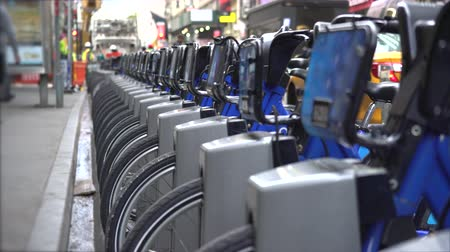 docking : Citi bike docking station - New York city, Manhattan