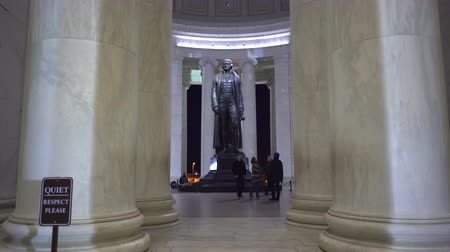 president of united states : Thomas Jefferson memorial, slider shot - Washington DC