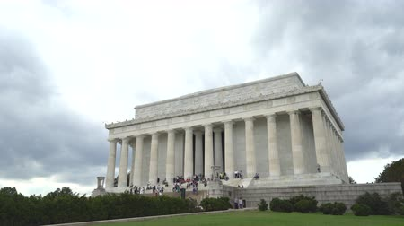 president of united states : Abraham Lincoln Memorial - Washington DC Stock Footage