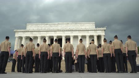 visitantes : Ceremonia militar en Abraham Lincoln Memorial - Washington DC