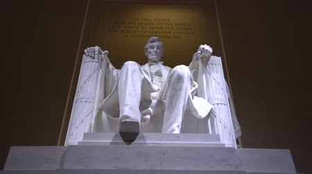 president of united states : Abraham Lincoln Memorial, a sliding shot- Washington DC