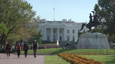 president of united states : White House with Lawn Statues - Washington DC