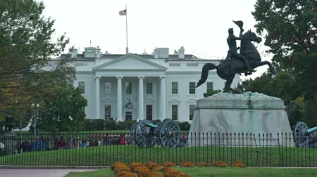 lafayette : White House with Lawn Statues - Washington DC