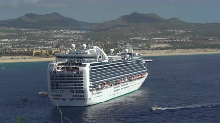 cabo san jose : Aerial of cruise ship anchored at Cabo San Lucas bay - Mexico