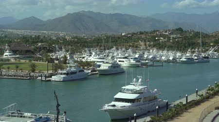 luxe : Tropical luxury yacht marina with mountains - port of San Jose del Cabo, Mexico