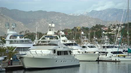 cabo san jose : Tropical luxury yacht marina with mountains - port of San Jose del Cabo, Mexico