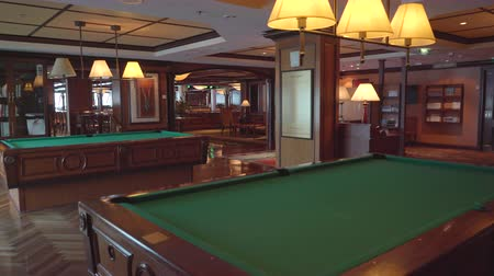 serenade : Luxury bar and billiard room in a cruise ship