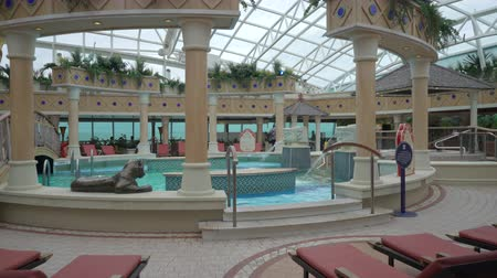 serenade : Cruise liner swimming pools and relaxing deck - Serenade of the seas