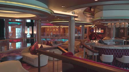 serenade : Elegant, modern lounge and bar interior on a cruise ship