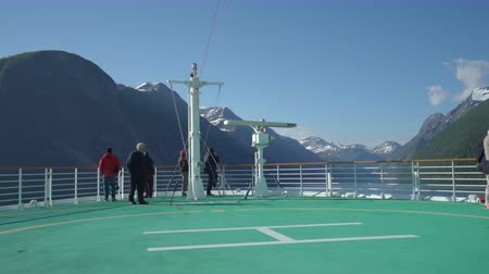 serenade : Cruise ship cruising in fjord, Norway - onboard view