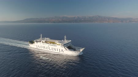 адриатический : Aerial view of cruising ferry boat - Jadrolinia, Croatia