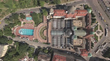 budapeste : Aerial shot of Budapest, Hungary - Gellert spa and bath, Hungary